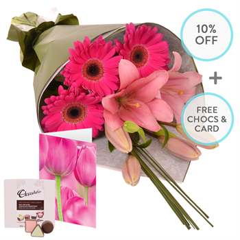 Flowers-Molly with Chocs and Card