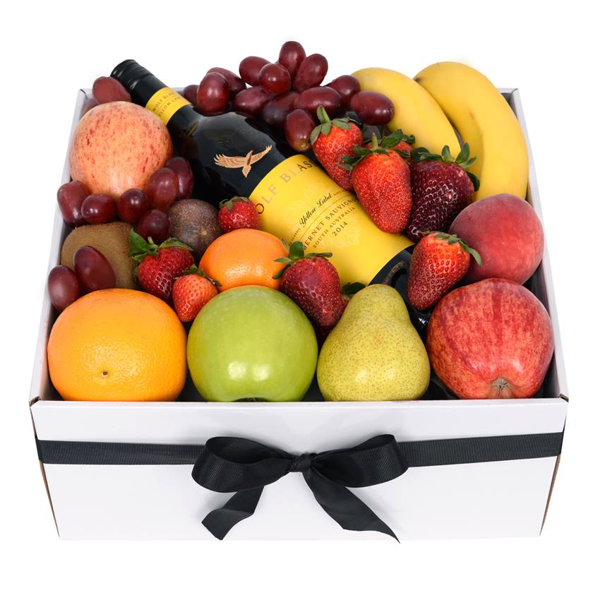 Classic Fruit Box with Red Wine